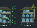 农村三层别墅建筑设计图