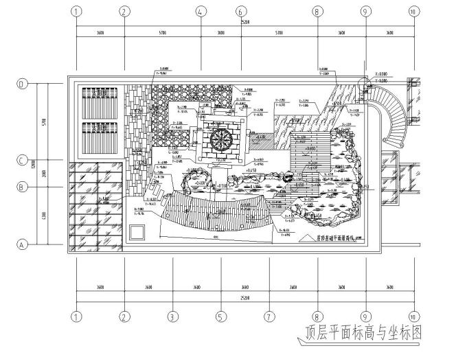 屋顶花园别墅庭院景观设计CAD施工图_4