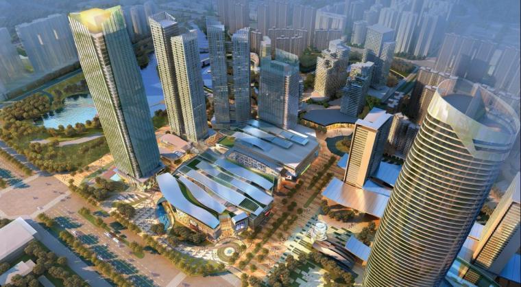 [成都]超高层金属板立面办公商业综合体建筑设计方案文本