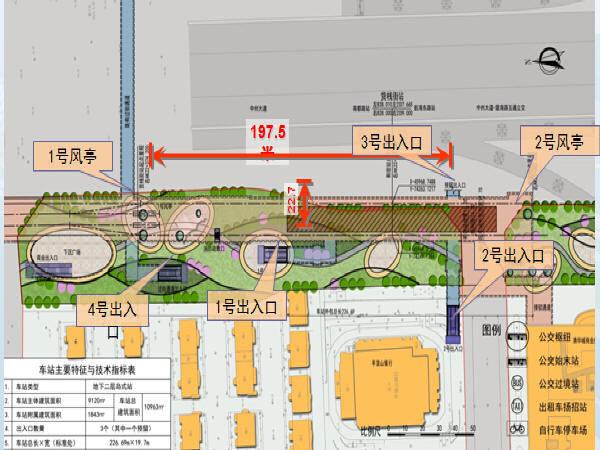 [专家汇报]含换乘线岛式站台地铁车站设计汇报文件(3座地铁站)