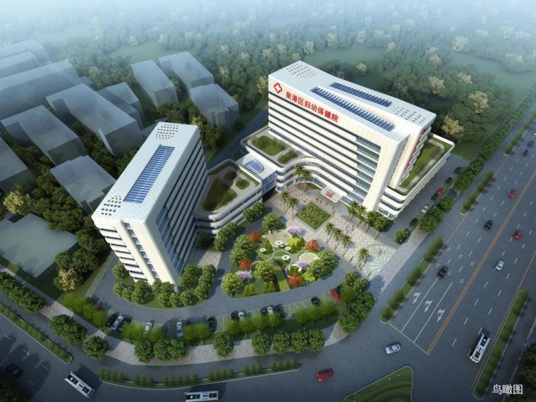 [福建]現代風格內走廊布局婦幼保健醫院建筑設計方案文本
