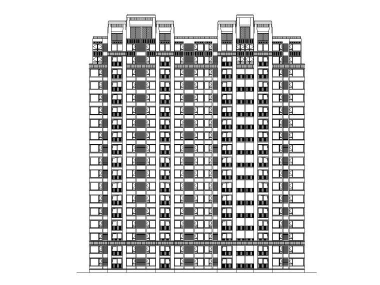 [安徽]和安家园居住区建筑施工图设计(CAD)
