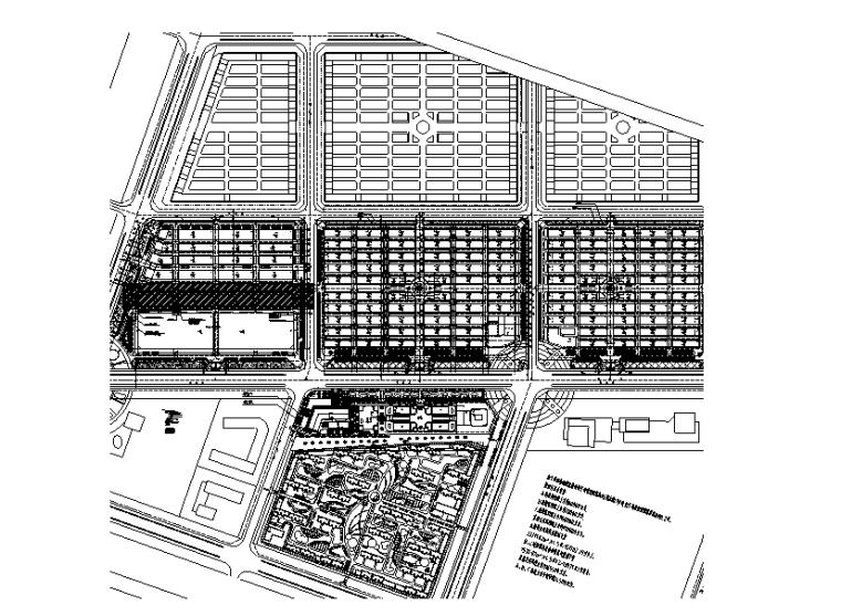 河南知名商场强弱电消防电气施工图(电气环保)