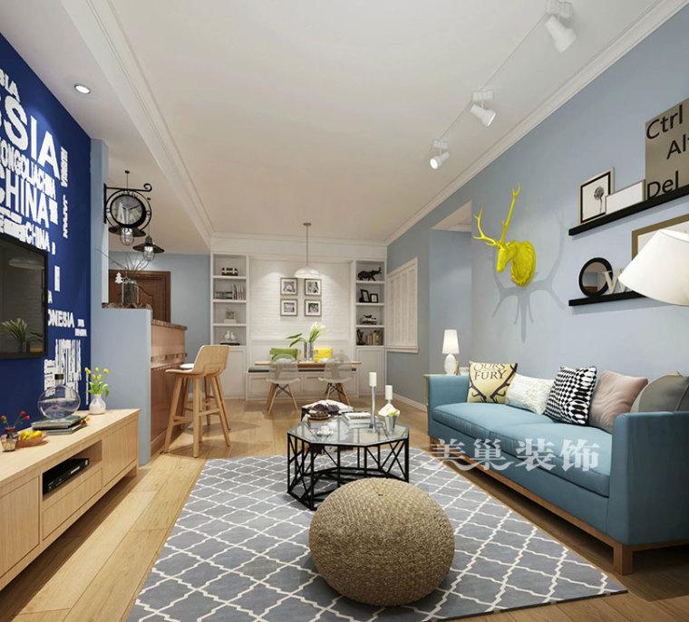 东润泰和130平北欧装修,15万打造休闲精致三室