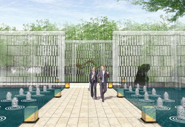 [江苏]南京高端住宅售楼处景观设计方案