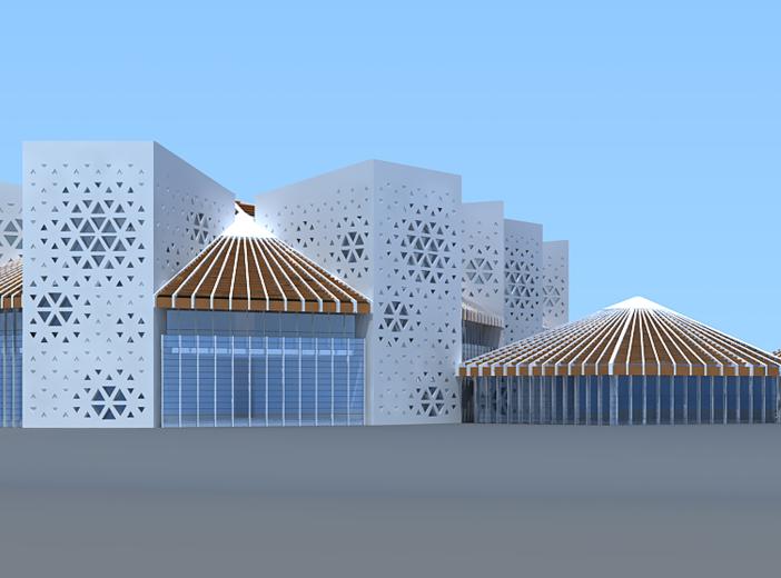 鄂尔多斯东胜区郝家圪卜路幼儿园方案设计文本(CAD总图+文本)