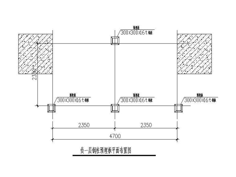 无机房观光电梯钢结构井道(CAD,7张)