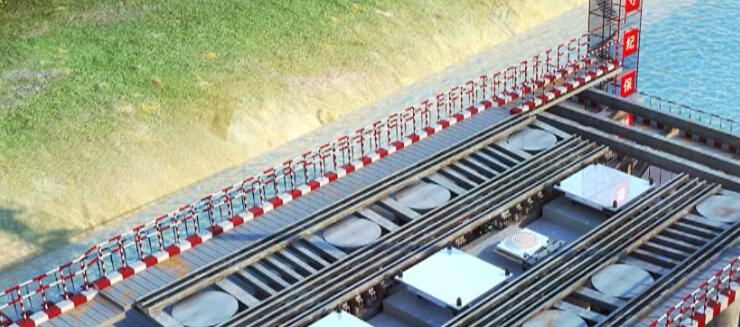 斜拉桥黄河大桥正桥及互通立交引桥工程上下结构施工技术三维动画演示(10分钟)_7