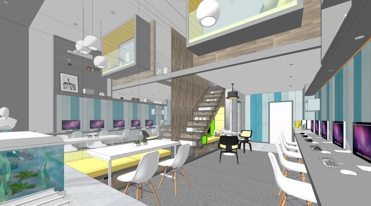现代风格跃层工作室空间设计模型