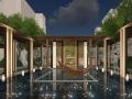 [上海]简约现代轴线递进式住宅空间景观规划设计方案