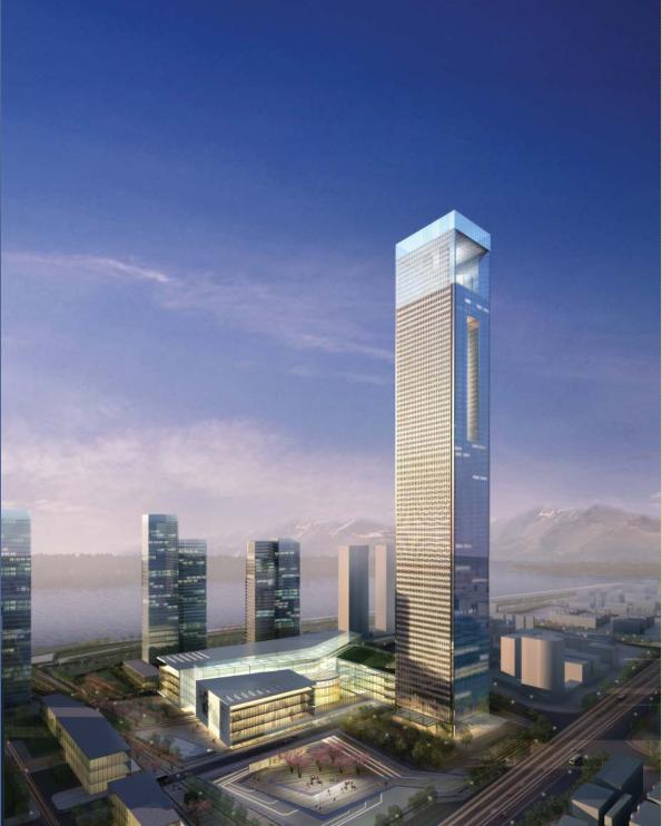 超高層塔式現代風格綜合性辦公樓建筑(地標性建筑)