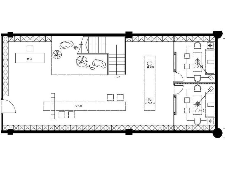 [四川]成都无界玉器会所空间设计施工图(附效果图)
