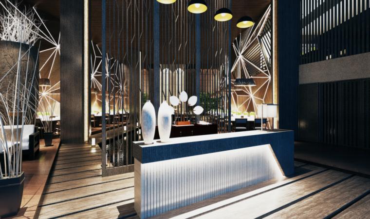 [广东]烟花水岸餐厅室内设计方案