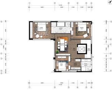 [北京]轻奢别墅40样板房室内施工图(方案+效果图+物料书)