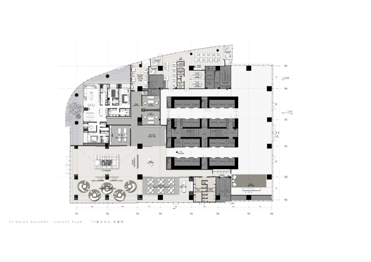 SCDA-华润展示中心CAD施工图+设计方案+物料表