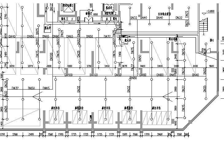 湖南花园小区给排水施工图