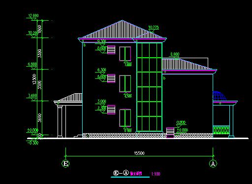 经典别墅建筑图纸_1