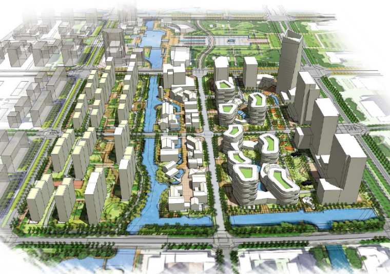 [江苏]扬州广陵新城同济地块概念设计方案文本