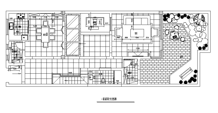 一层家具定位尺寸图