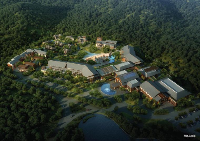 [湖南]多层新中式风格国际度假酒店建筑设计方案文本
