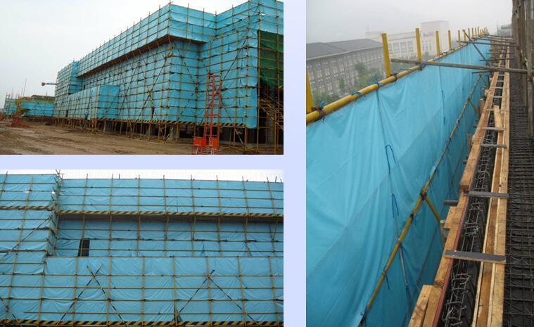 全国建筑业绿色施工示范工程支持性资料培训PPT(86页,附图较多)-施工作业面应设置隔音设施