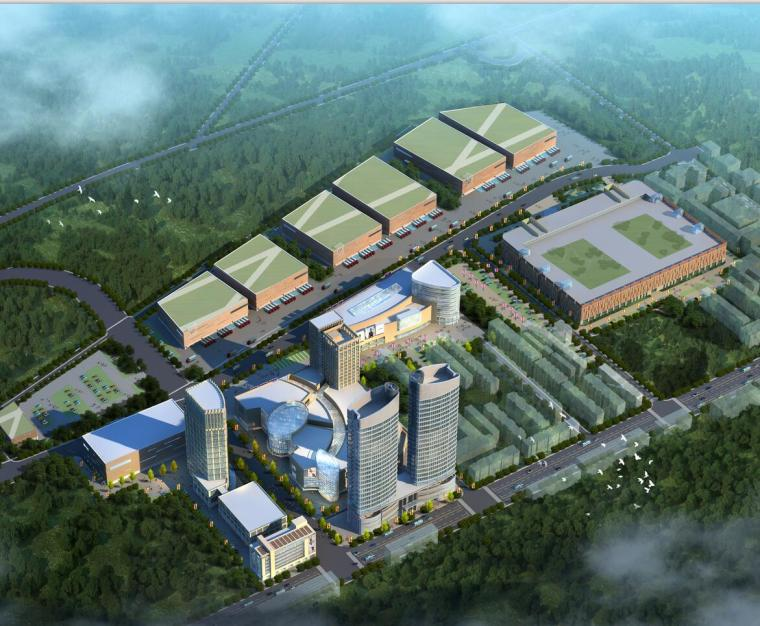 [北京]朝阳物流产业集群规划及北川工业物流园方案文本(JPG+CAD)