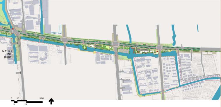 [江苏]东风河生态景观改造框架规划景观规划设计(PDF+39页)-总平图