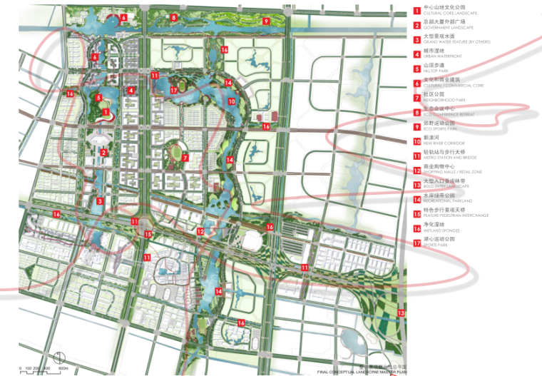 [江苏]南通市经济技术开发区核心区域景观规划(PDF+117页)-总平图