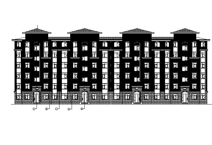 [宁夏]多层新中式风格联排式别墅建筑施工图(含全专业)