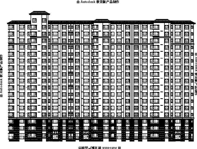 [深圳]高层框架剪力墙结构住宅小区建筑施工图