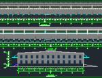 钢结构物流库车间建筑结构施工图