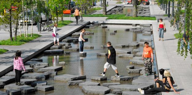 """[湖北]""""海绵城市""""花溪景观公共休闲绿地景观规划设计方案_2"""