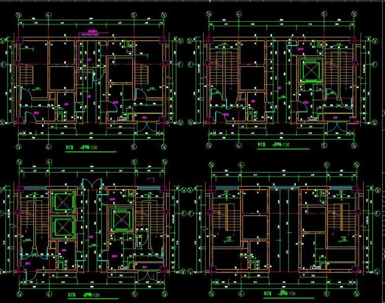 [山东]某地税局办公楼施工图设计(14个CAD+80张图)_6