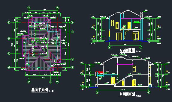 欧式别墅建筑结构施工图_2