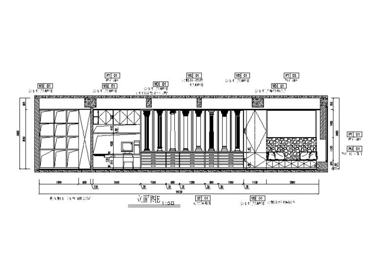 现代风格小巨蛋办公室设计CAD施工图(含实景图)_4