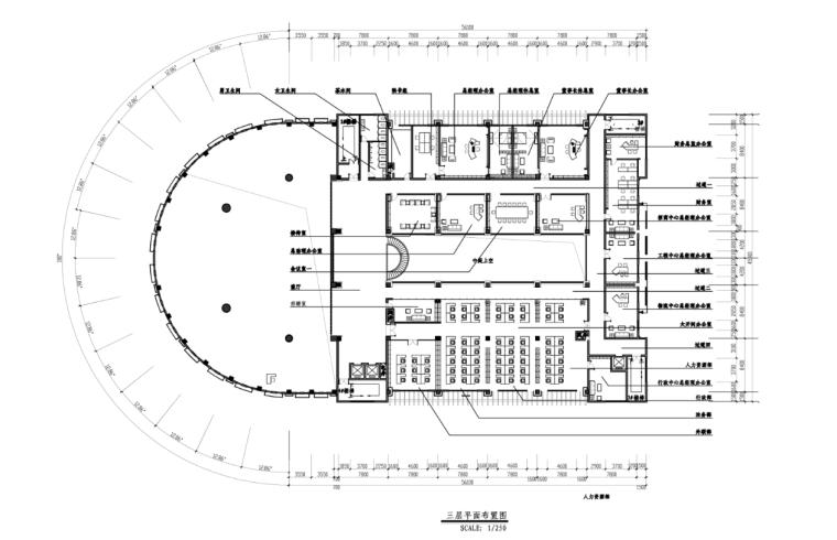 山东某现代风格写字楼施工图及效果图(含108张图纸)