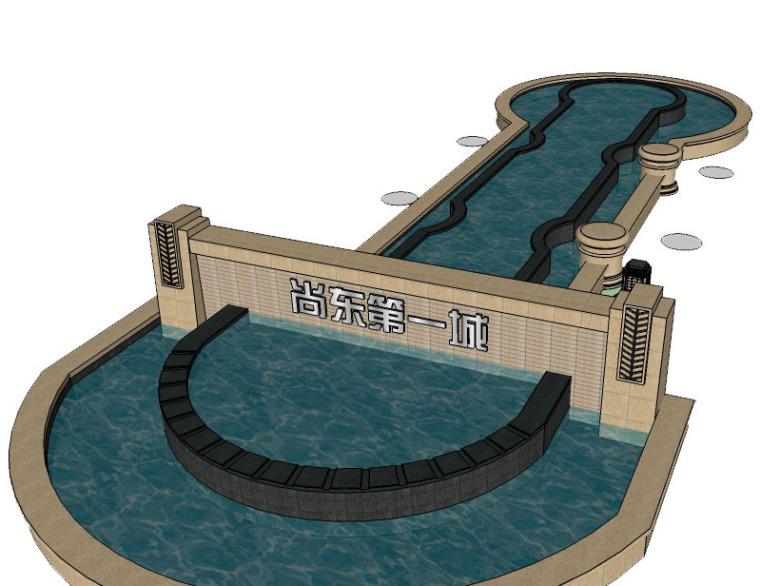 22套水池树池精致SU模型