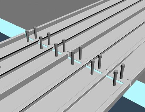 压型钢板铺设示意图