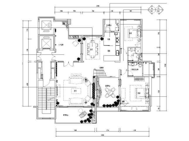 [广东]东莞幸福花苑一期2栋A1b样板房施工图
