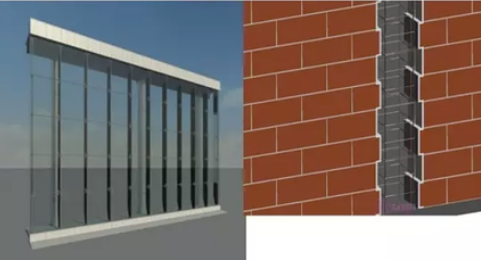 基于Revit石材幕墙案例整体模型
