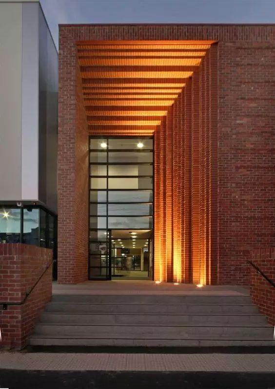 超有设计感的建筑入口_11