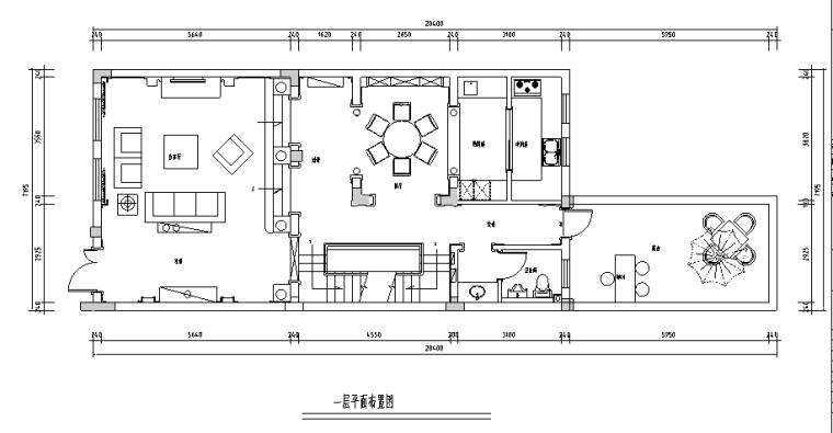 [江苏]欧式400平米联体别墅设计施工图(附效果图)