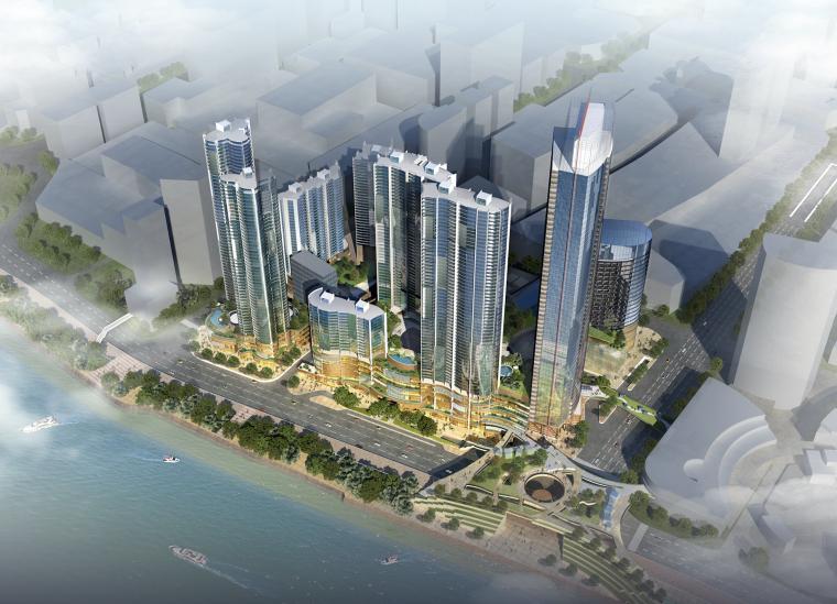 [湖南]超高层滨江商住楼群建筑方案设计文本