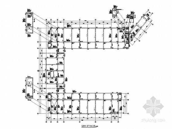 [南京]五层框架结构小学结构施工图(地下三  层)