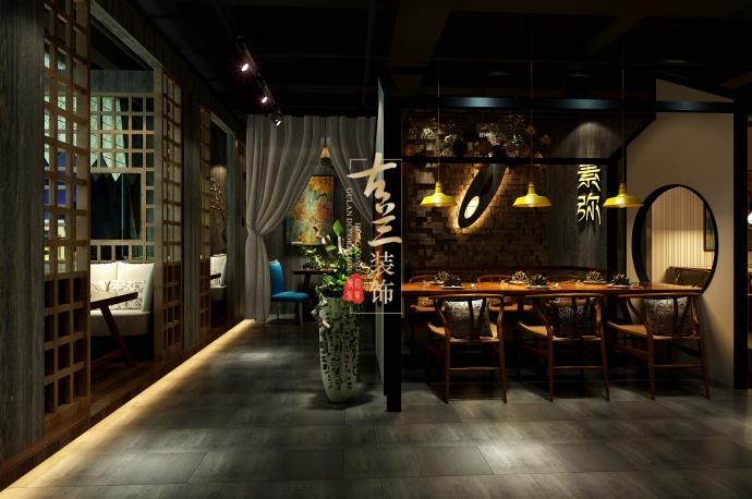 《素弥素食》-资阳酒楼设计装修,资阳酒楼设计公司-素弥素食餐厅2.jpg