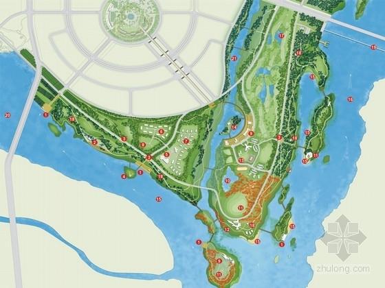 [山东]现代生态新城景观规划设计方案