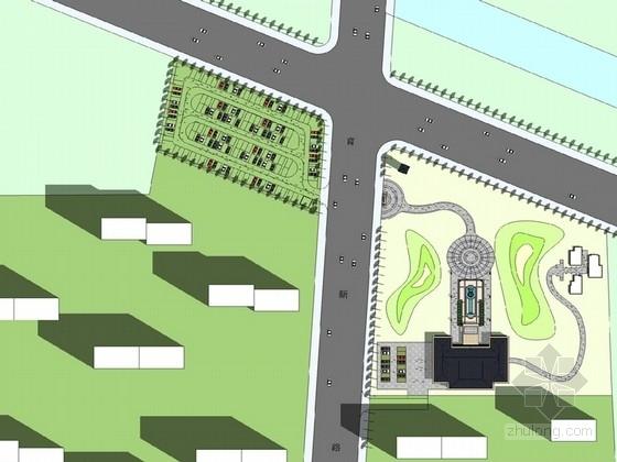 [北京]豪华大气商务住宅区景观规划设计方案