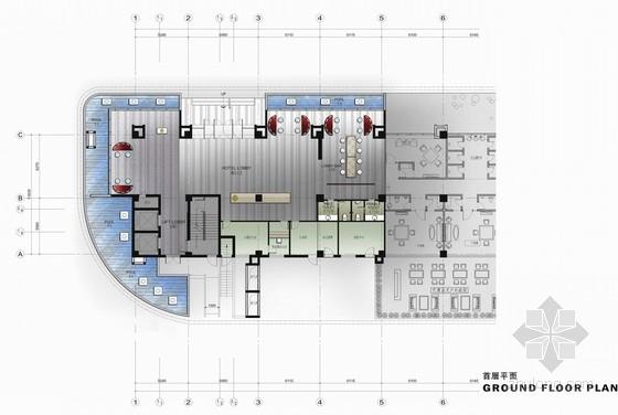 [福建]四星级现代温泉酒店室内装修设计方案
