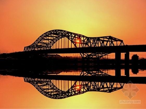 [江苏]三跨中承式连续钢桁架拱桥施工图162张(现浇连续箱梁 照明)