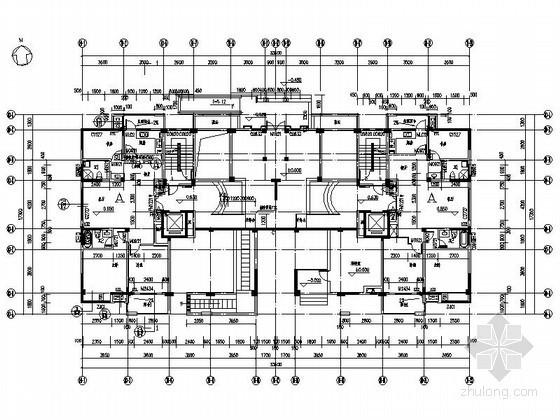 [江苏]泰州某十四层一梯二户板式住宅楼建筑施工图-
